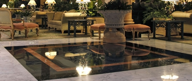 the great thing about natural stone floors is that they can be restored high traffic and heavy use may dull your marble chip your travertine or damage - Travertine Hotel 2015