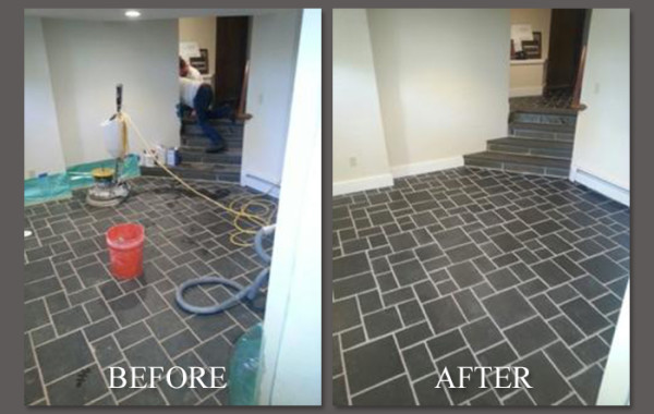 Slate Floor Refinished