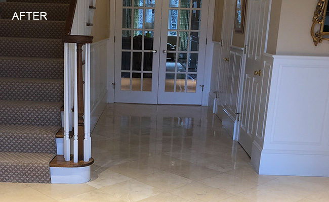 Polished Travertine Floors