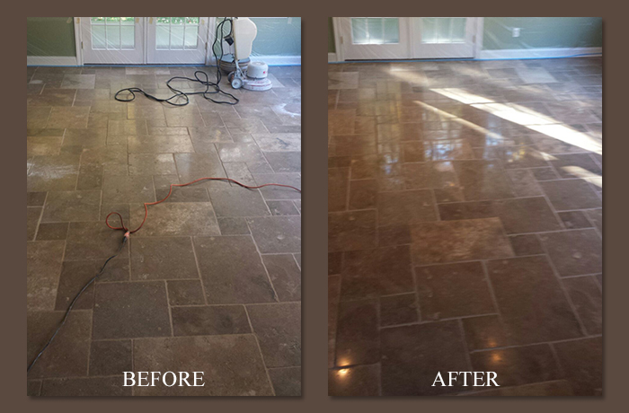 Before After Travertine Floors Polished Repair Nj Nyc Stone Makeover