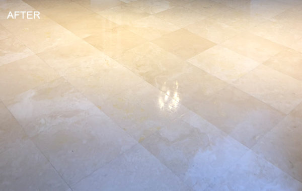 Travertine Floor Honing and Polishing