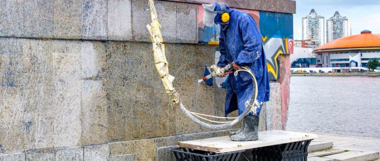 How to Remove Graffiti from Stone, Masonry, and Tile Surface